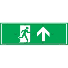Straight Exit Sign in Rectangle