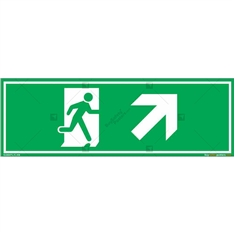 Up Right Exit Sign in Rectangle