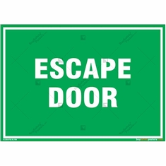 Escape Door Sign in Landscape