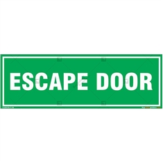 Escape Door Sign in Rectangle
