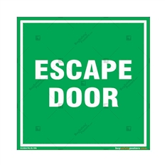 Escape Door Sign in Square