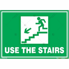 Use The Stairs Signs in Landscape