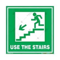 Use The Stairs Signs in Square