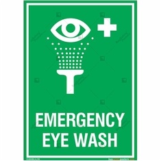 Emergency Eye Wash Sign in Portrait