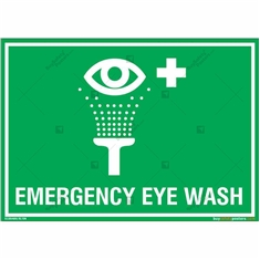 Emergency Eye Wash Sign in Landscape