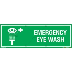 Emergency Eye Wash Sign in Rectangle
