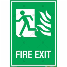 First Exit Sign in Portrait