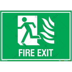 First Exit Sign in Landscape