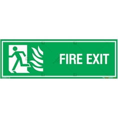 First Exit Sign in Rectangle