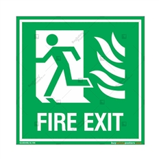 First Exit Sign in Square