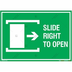 Slide Right to Open Sign in Landscape