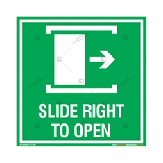 Slide Right to Open Sign in Square