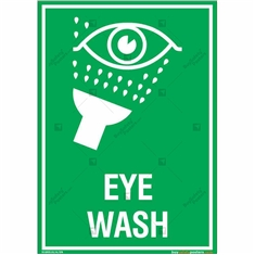 Eye Wash Sign in Portrait