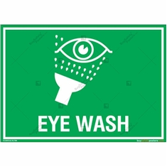 Eye Wash Sign in Landscape