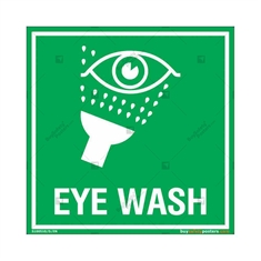 Eye Wash Sign in Square