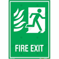 Fire Exit Sign in Portrait