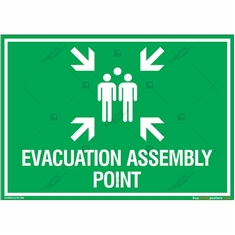 Evacuation Assembly Point Sign in Landscape