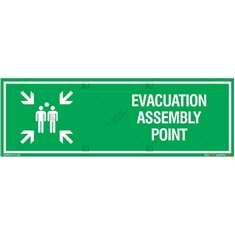 Evacuation Assembly Point Sign Board