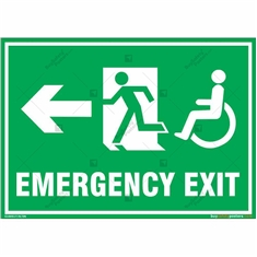 Emergency Exit Signs in Landscape