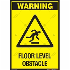 Floor Level Obstacle Warning Sign in Portrait