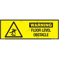 Floor Level Obstacle Warning Sign in Rectangle