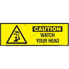 Watch your Head Sign in Rectangle