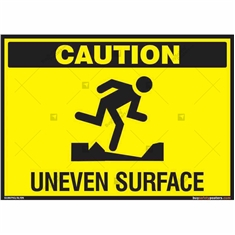 Caution Uneven Surface Signs in Landscpae