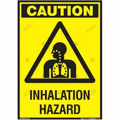 Inhalation Hazard Sign in Portrait