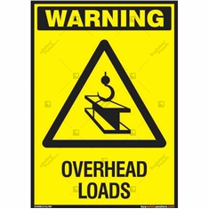 Checkout for Overhead Loads Sign in Portrait