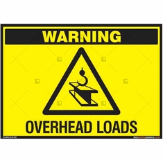 Checkout for Overhead Loads Sign in Landscape