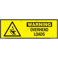 Checkout for Overhead Loads Sign in Rectangle
