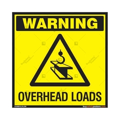Checkout for Overhead Loads Sign in Square