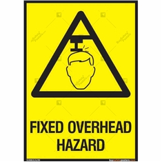 Fixed Overhead Hazard Sign in Portrait