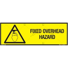 Fixed Overhead Hazard Sign in Rectangle