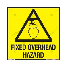 Fixed Overhead Hazard Sign in Square