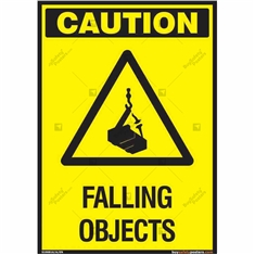 Falling Objects Sign in Portrait