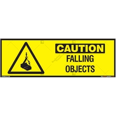 Falling Objects Sign in Rectangle