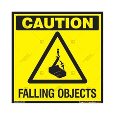 Falling Objects Sign in Square