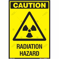 Radiation Hazard Sign in Portrait