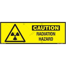 Radiation Hazard Sign in Rectangle
