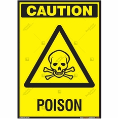 Poison Sign in Portrait
