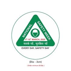 National Safety Week Logo Helmet Sticker