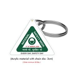 National Safety Week Logo Keychain