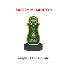 Safe Workmen Award Memento