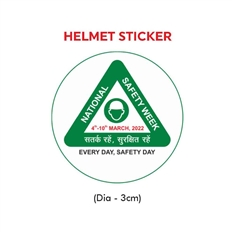 National Safety Week Logo Helmet Sticker