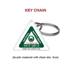 National Safety Week Logo Keychain