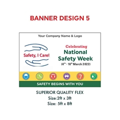 National Safety Week  Safety Slogan Banner