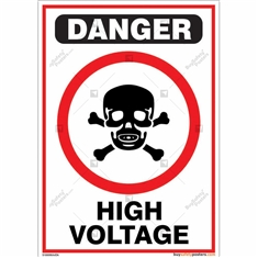 High Voltage Sign in Portrait