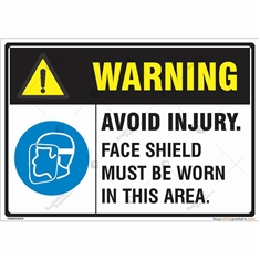 Warning Avoid Injury Signs in Landscape