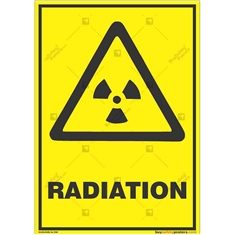 Radiation-Warning-Sign in Portrait